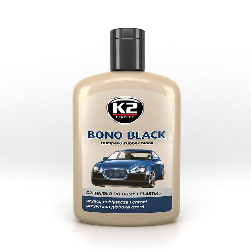 K2 Czernidło do gumy i plastiku Bono Black 200 ml  K030